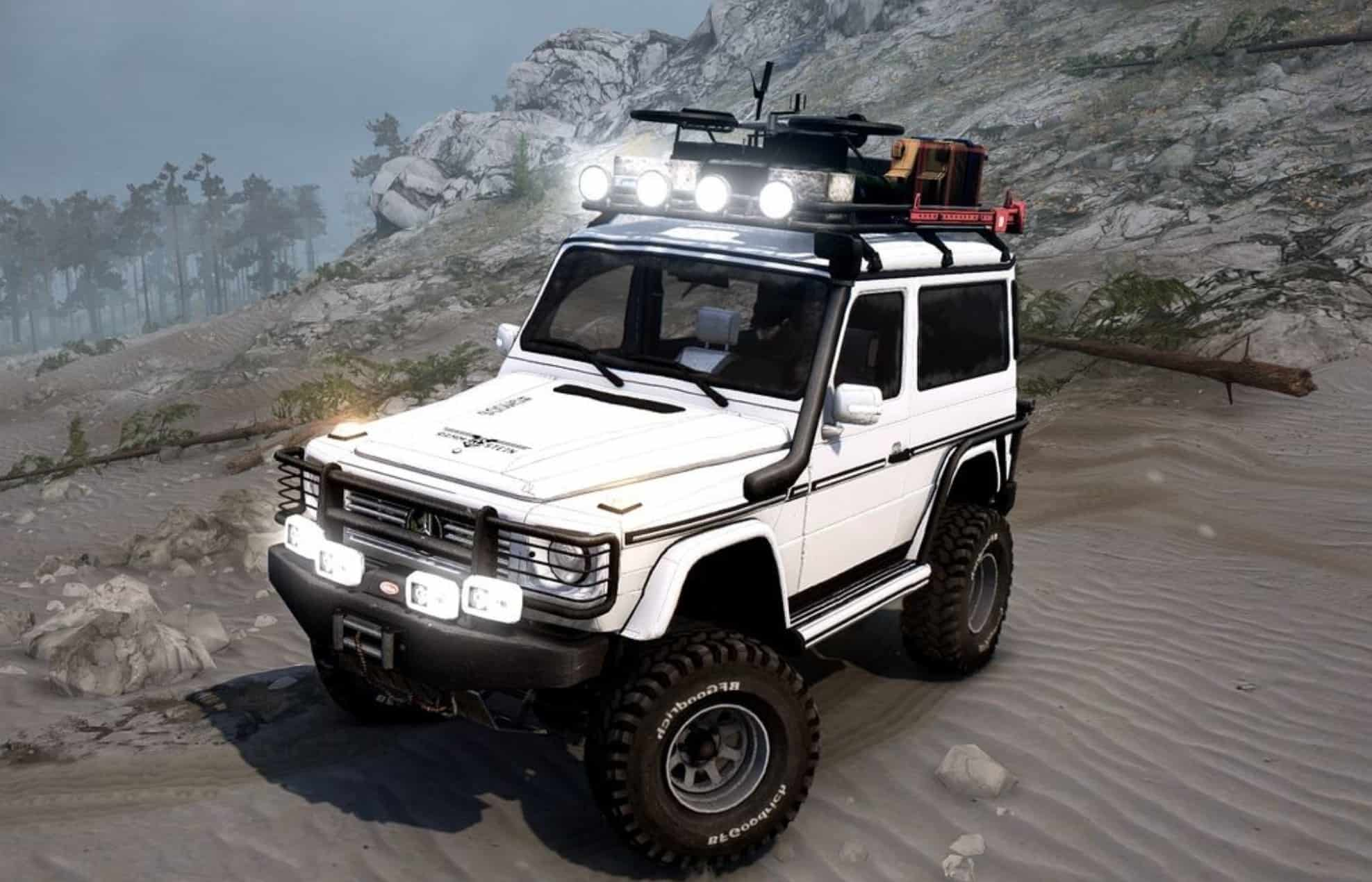 Mercedes benz g500 tourist version spintires mudrunner mod for Mercedes benz g500