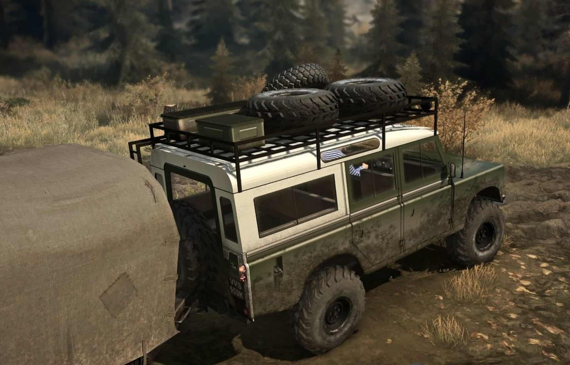 land rover series iii v1 0 spintires mudrunner mod. Black Bedroom Furniture Sets. Home Design Ideas
