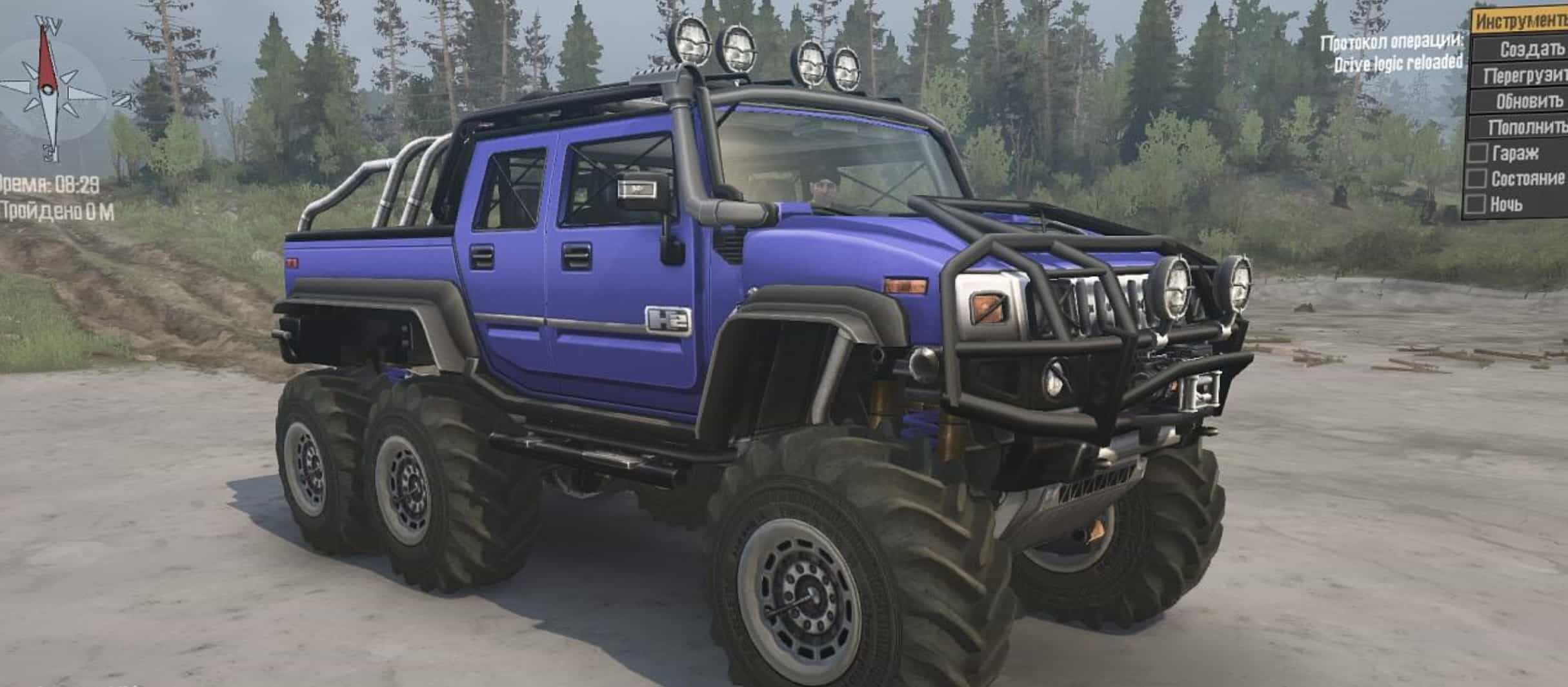 hummer h2 6x6 spintires mudrunner mod. Black Bedroom Furniture Sets. Home Design Ideas