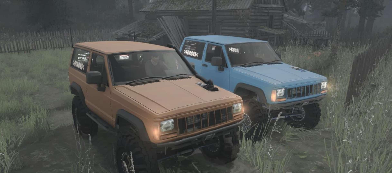 jeep xj nissan turbo diesel 1990 spintires mudrunner mod. Black Bedroom Furniture Sets. Home Design Ideas