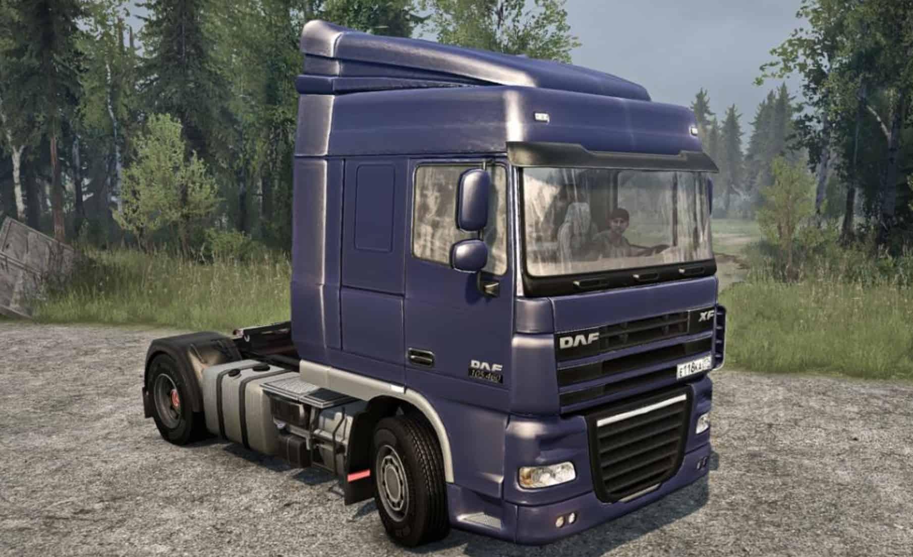 daf xf truck spintires mudrunner mod. Black Bedroom Furniture Sets. Home Design Ideas