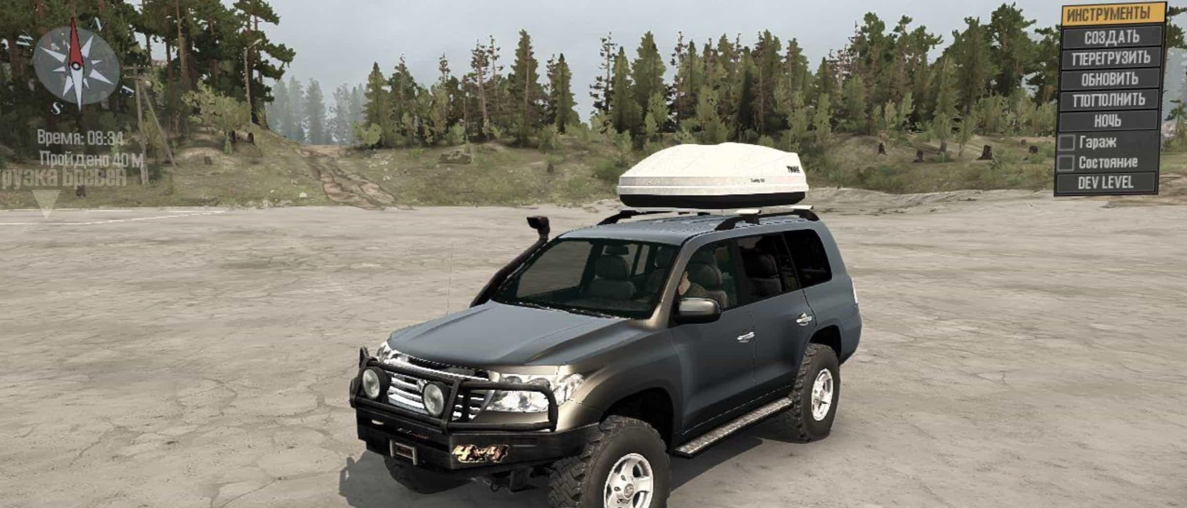 Toyota Land Cruiser 200 V12 Spintires Mudrunner Mod