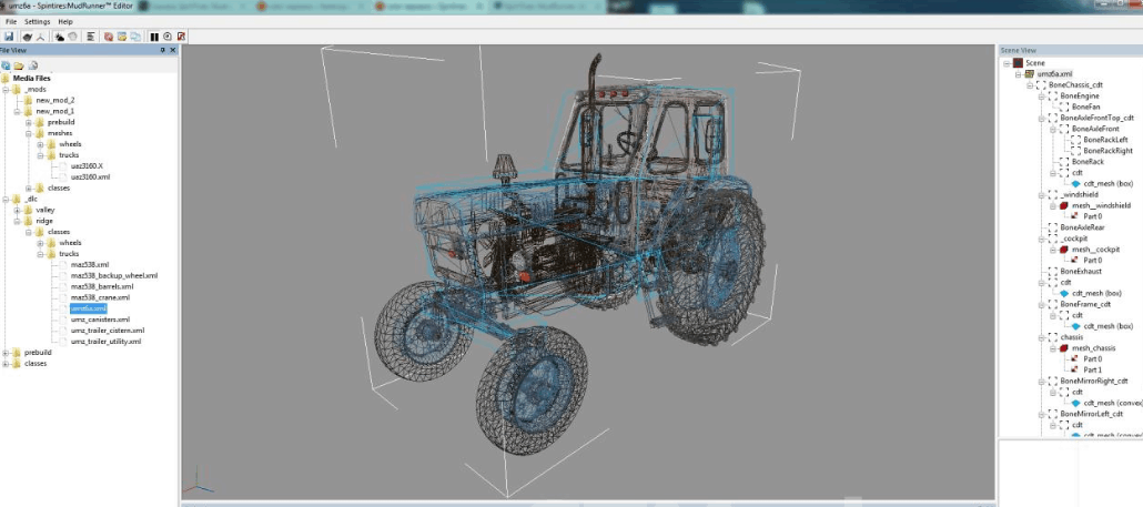 The editor of maps and trucks Spintires: MudRunner Editor