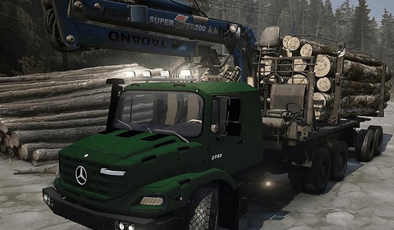 Mercedes Benz Zetros 2733 3643 Trucks Mod V09 09 18 Spintires