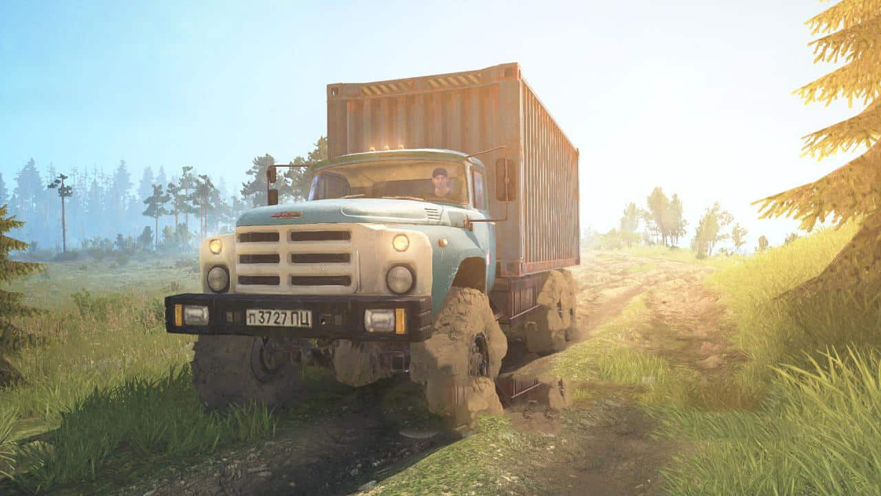 Zil 133 6x6 Truck - Spintires: MudRunner Mod Zil Large Scale Road Map on