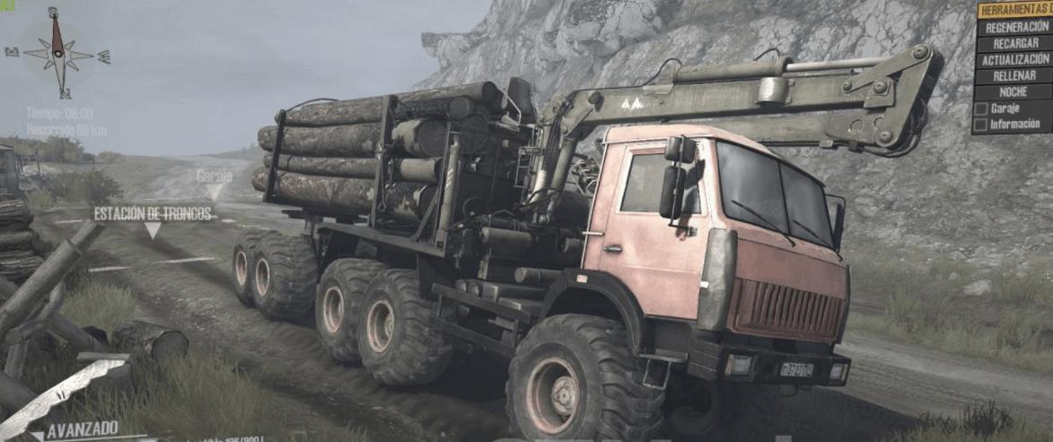 Kamaz 65111 monster Truck v1 - MudRunner / SnowRunner Mod