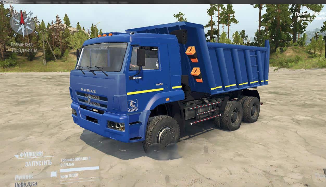 KaMaZ 6522 SV Truck - MudRunner / SnowRunner Mod
